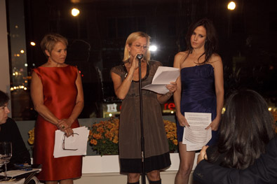 Katie Couric Leed Woodruff and Mary Louise Parker