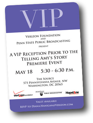 Telling Amy's Story DC Premiere VIP Pass