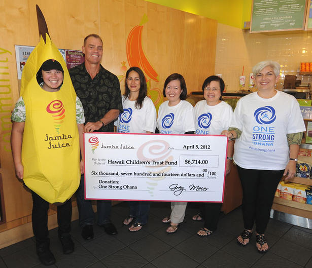 Jamba Juice and the Hawai'i Children's Trust join together to support One Strong 'Ohana