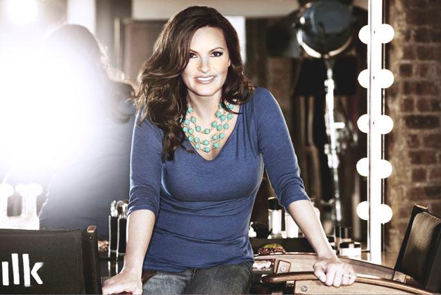 Mariska Hargitay wears Aqua Three Strand Bobble Necklace