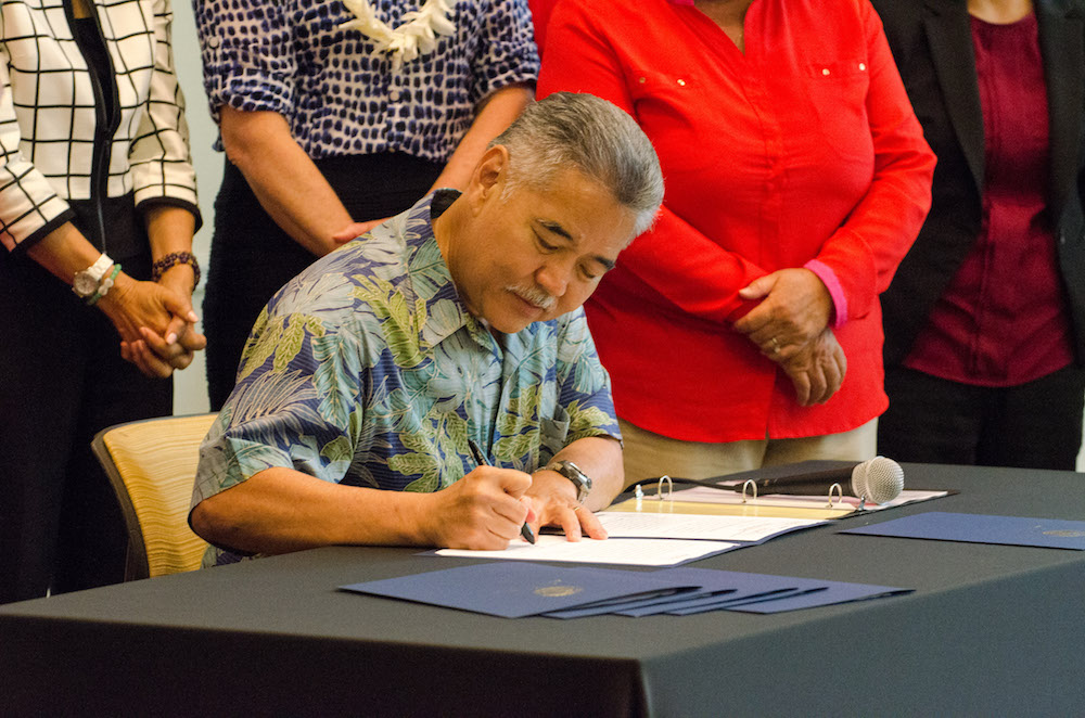 The rape kit bill in Hawai'i is signed into law
