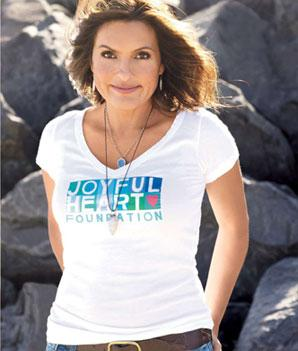 Mariska Hargitay for the Joyful Heart Foundation