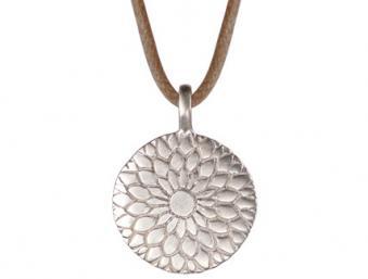 Mero Lotus Mandala Silver On Cord Joyful Heart Foundation